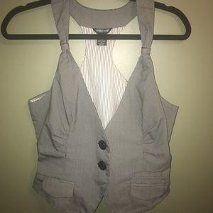 Ladies Black and White Vest